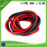 L'usine d'UL personnalisent courant électrique en caoutchouc de silicones de bande de PVC XLPE de 0.08mm le câble de fil isolé flexible de cuivre/électrique