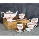 Conjunto de café de cerámica negro del azúcar del té de China de hueso