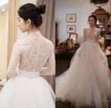 Barato de alta qualidade com pérolas reais Suite Bata vestido de casamento
