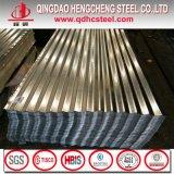 Hoja de acero acanalada galvanizada SGCC del material para techos