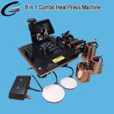 5en1 Máquina de impresión multiuso calor combinado de la máquina de Prensa 5 de 1