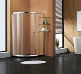 Cerco luxuoso do chuveiro do quarto de chuveiro da porta deslizante de aço inoxidável da forma
