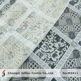 Tissu de tricotage de lacet de grand coton géométrique de configuration (M3411)