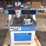 Mini CNC 6090 máquina de gravura de 4 linhas centrais para a mobília de madeira