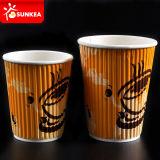 Ondulación pared de vasos de papel para bebidas calientes