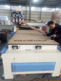 Máquina de cinzeladura de madeira do CNC eixos pneumáticos de Sysem dos multi, madeira da máquina do router, router do CNC de duas cabeças com giratório