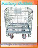 Gaiola de dobramento do armazenamento do armazém do engranzamento de fio de aço do metal do rolamento