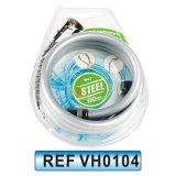 Double verrou en acier inoxydable flexible d'eau de douche à pomme de douche (VH0103)