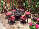Mobilier de jardin en aluminium moulé de plein air Set Table BBQ