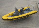 Vedette de côte d'Aqualand 19feet 5.8m/bateau de sauvetage gonflable rigide (RIB580T)