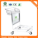 3 roda Stainless Steel Airport Baggage Trolley com Auto Brake