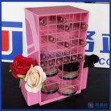 Torre de giro acrílica caraterizada do batom da cor cor-de-rosa de Prodcuts