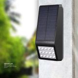 Lámpara al aire libre del jardín del LED de la luz solar de la pared