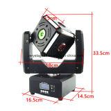 6X10W 다중 효력 광속 DJ 디스코 LED 입방체 이동하는 맨 위 빛