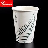 PLA forrado / recubiertos de papel taza de café con el logotipo