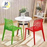 현대 작풍 강한 체더링 옥외 사용 플라스틱 대중음식점 의자