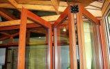 Doppio portello lustrato di legno placcato di alluminio personalizzato di Bifolding