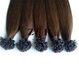 Da queratina indiana de Prebonded do cabelo de Remy do cabelo da cutícula extensões lisas do cabelo da ponta