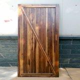 Amerikanische Art-schwarze Walnuss-festes Holz-Schiebetür mit Befestigungsteilen