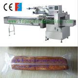 Автоматической машина упаковки хлеба хлебца подачи замерли подушкой, котор