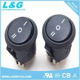 runde Miniatur 16A Wechselstrom-Schnappwippenschalter