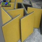 Patio exterior de la seguridad de alta densidad de baldosa de goma