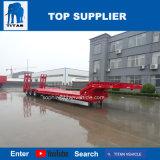 Titan moulin à vent télescopique Low-Bed extensible de pont de chute de remorque hydraulique de faible le chargeur semi-remorques pour la vente