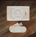 Movimentação feita sob encomenda da pena do flash da vara da memória do USB 2.0 da madeira do bordo/bambu/noz do giro de DIY