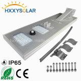 Cores Personalizadas 30W em um único LED Solar Luz de rua com a segurança do sensor de movimentos