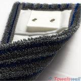 Microfiber durable gris frottant la lavette à plat humide avec la poche