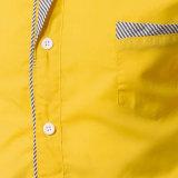 Chemises de robe élégantes de longue chemise avec la poche de poitrine (A448)