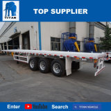 Titan-Fahrzeug Tri-Welle 60 Tonnen-Flachbettschlußteil für Verkauf