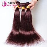 8A等級100%のインド人のバージンの毛の深い波のワインレッド99jインドRemyの人間の毛髪の編むこと