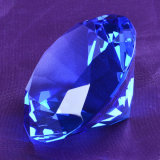 Handmade Large Blue K9 Crystal Diamond Shape Wedding Favors Gift