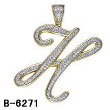 Stijlen 925 Zilveren Initialen Tegenhangers van de Fabriek van China de In het groot Nieuwe