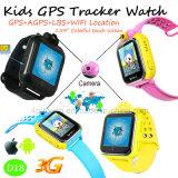 3G GPS Verfolger-Uhr für Kinder mit mehrfacher Sprache D18