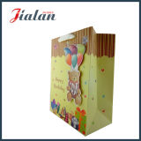 Lovely Bear personalizar el diseño de alta calidad bolsa de papel de cumpleaños en 3D.