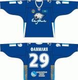 Customized Homens Mulheres Crianças Liga de Hóquei Kontinental Barys Astana 2008-2012 Hóquei no Gelo Jersey