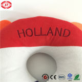 네덜란드 깃발 색깔 일치 창조적인 아기 목 지원 목 베개