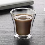 tazza di vetro doppia del caffè espresso della tazza di caffè della tazza di caffè del Cappuccino 80ml
