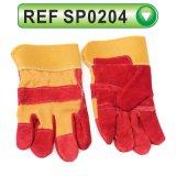 Перчатки коровы перчаток техники безопасности на производстве Split кожаный работая перчатки (SP0204)