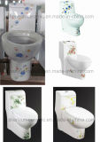 One-Piece WC Ceramic Toilet Bathroom Water Closet (A-037)