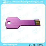 Wasserdichtes purpurrotes Metallaluminiumschlüsselform USB-Stock (ZYF1734)
