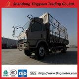 5 camion di Sinotruk HOWO di tonnellata mini con il carico del palo per trasporto del bestiame