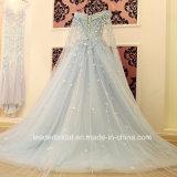 Роскошный Bridal шнурок мантий шарика цветет платья венчания H20179 перл