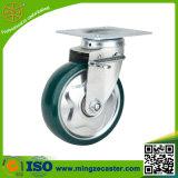 PU auf Stahlfelgen-Rad für industrielle Fußrolle