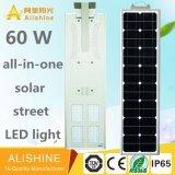 옥외 태양 LED 점화 제조자 최신 판매 60의 W 한세트 태양 거리 LED 램프