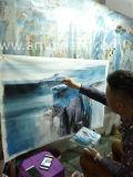 جعل [أيل بينتينغ] زرقاء تجريديّ جانبا [ميإكسد مديوم] من [أموي] فنّ توزيع