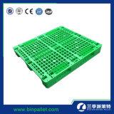 48*40 de Stapelbare Plastic Pallet van de duim HDPE/PP met Enige Kant