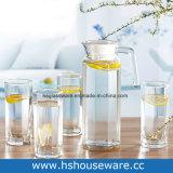 Reeks van Drinkware van het Glas van de achthoekige Vorm de Duidelijke
